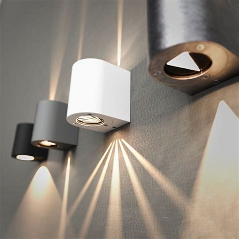 funky filtered wall lights in five finishes