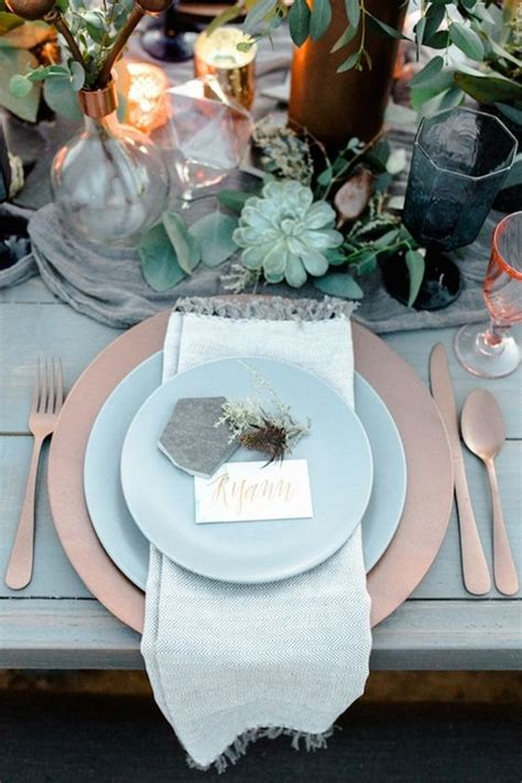 top  dusty blue  copper wedding color ideas deer
