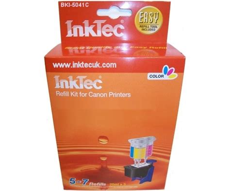 inktec ink cartridge colour refill kit canon pixma mg2100