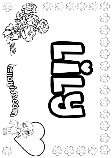 lily coloring pages hellokidscom