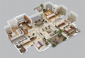 3 bedroom apartment house plans futura home decorating With three bedroom apartment planning idea