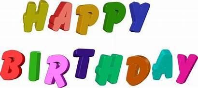Birthday Happy Text Clip Clipart Word Illustration