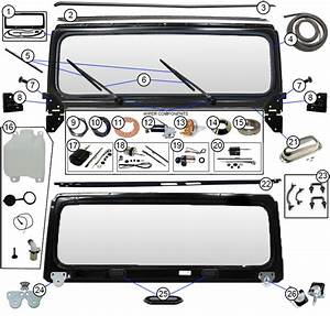 Diagrams For Jeep    Windshield Frames  U0026 Parts    Jeep Cj5