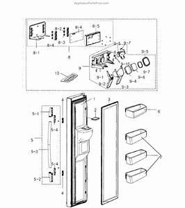 Parts For Samsung Rs2530bbp  Xaa    0000  Left Door Parts