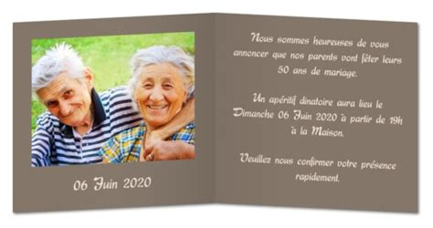 Carte D Invitation Pour Anniversaire De Mariage