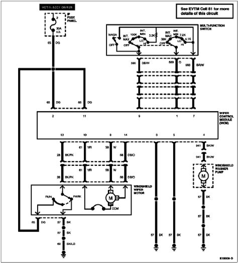 1994 Econoline E4od Wiring Schematic by No Intermittent Wipers No Wiper Parking Ford Bronco Forum