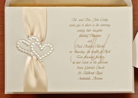Gold Heart Wedding Invitation