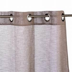 Rideau Voilage Lin : rideau voilage emma 140x240cm lin ~ Teatrodelosmanantiales.com Idées de Décoration