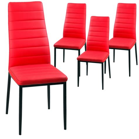 chaises rouges deco in lot de 4 chaises iris lot 4 chaise