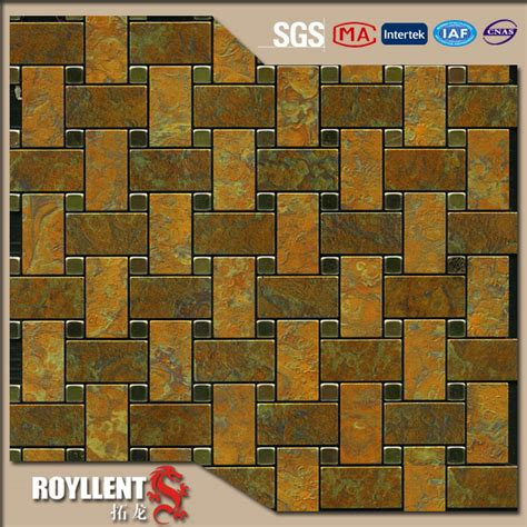 cheap peel and stick mosaic tile backsplash royllent acp mosaic diy brown white peel and stick
