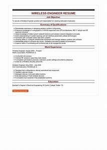 Test Engineer Resume Objective 2 Wireless Engineer Resume Samples