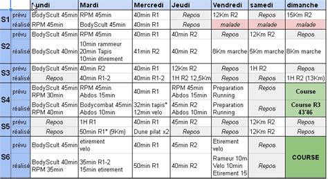 plan d entrainement tapis de course programme d entrainement de 6 semaines bilan