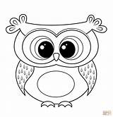 Coloring Owl Printable Cartoon Pdf Flying sketch template