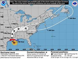 Hurricane Laura Aims For Louisiana