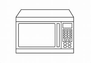 Microwave clipart black and white 10 » Clipart Station