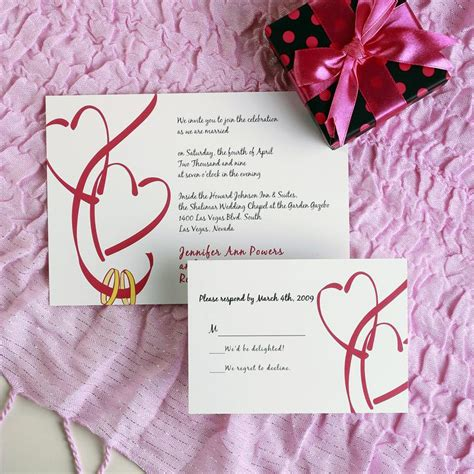 wedding invitations with hearts romantic hearts wedding invitations ewi028 as low as