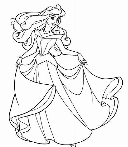 Coloring Princess Pages Detailed Colour Printable Getcolorings