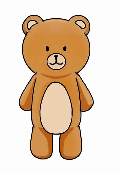 Bear Clipart Brown Standing Cartoon Bears Cliparts