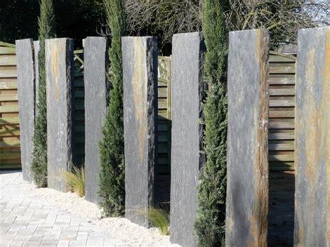 Sichtschutz Garten Schiefer by Schiefer Stelen Sichtschutz Nowaday Garden