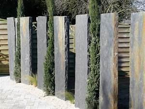 Schieferplatten Terrasse Preise : schiefer stelen sichtschutz nowaday garden ~ Michelbontemps.com Haus und Dekorationen