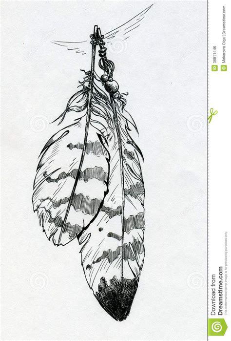 pendant   eagle feathers stock illustration image
