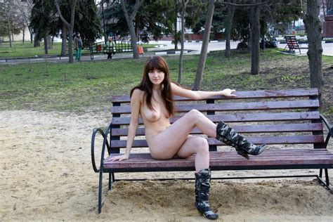 Crazy Russian Teen Posing Totally Naked At Public