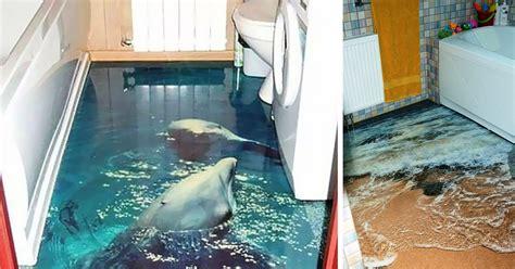 floors turn  bathroom   ocean bored panda