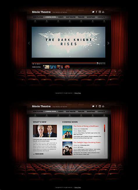 theatre responsive website template movie theatre html5 template
