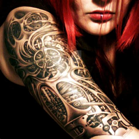 Biomech Tattoo By Cyby1978 On Deviantart
