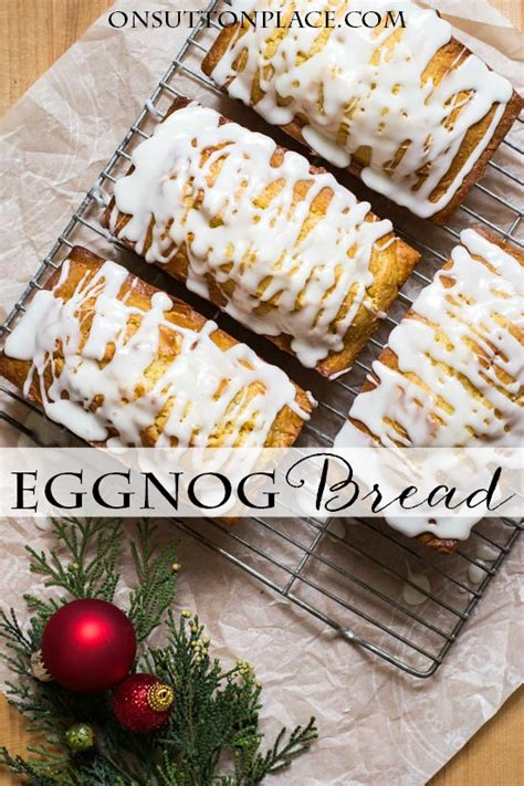 This buttery, italian bread really is the star of christmas desserts. Eggnog Bread with Sugar Rum Glaze - On Sutton Place
