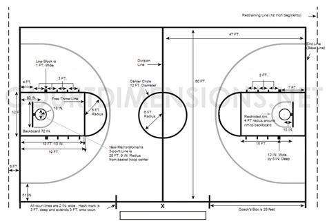 basketball measurements high school floor dimensions anotherhackedlife