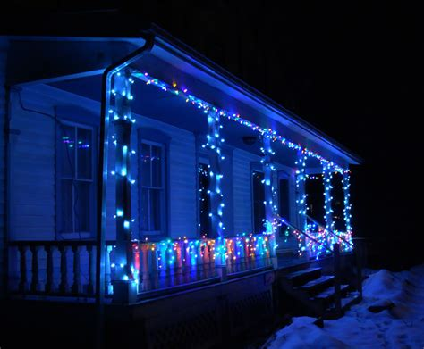the peaceful symbol of using blue christmas lights