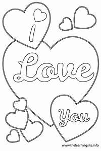 Free love heart drawing coloring pages