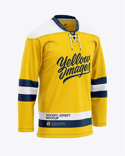 All free psd mockups you will find with lot of sub categories,just browse these freebies and use them for your commercial and personal projects. Mens Lace Neck Hockey Jersey Front Half-Side View Jersey ...