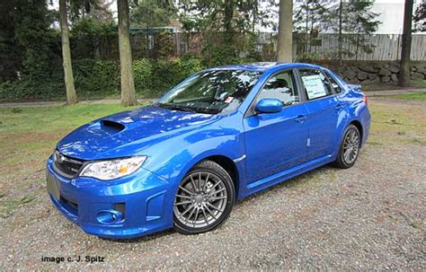 Rally Blue Wrx by 2013 And 2012 Subaru Wrx Photographs