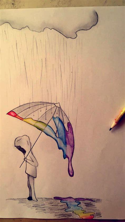regenboog regen life art sketches drawings