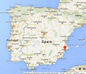 Alicante on Map of Spain