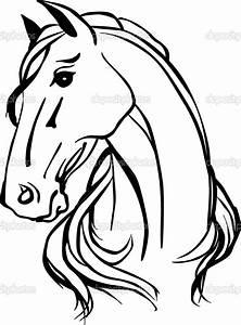 """Résultat de recherche d'images pour """"horse line drawing ..."""