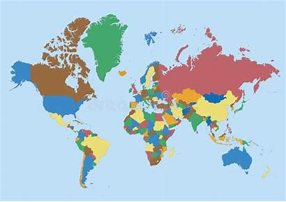 Blank Map Borders Countries Colors Represented Vector