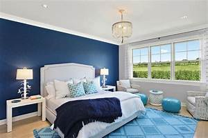 Blue Master Bedroom Decoration Dark Wallpaper With Light