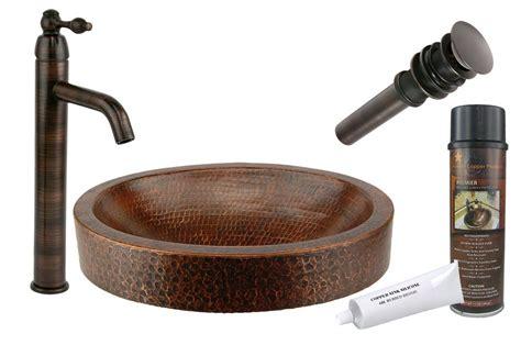 compact skirted metal oval vessel bathroom sink  faucet copper vessel sinks copper sink