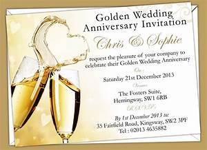 invitation golden wedding anniversary wedding invitation With sample of golden wedding anniversary invitation
