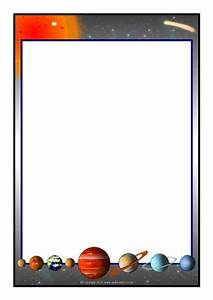 Free for kids: Space Page Border