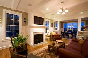 Family room flat screen tv - Traditional - Living Room ...