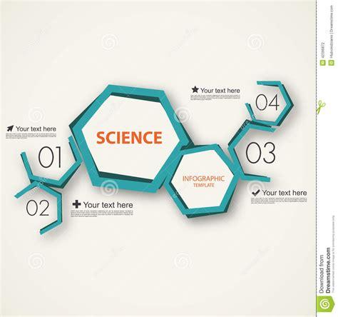 science infographic template stock vector illustration  molecular hexagonal