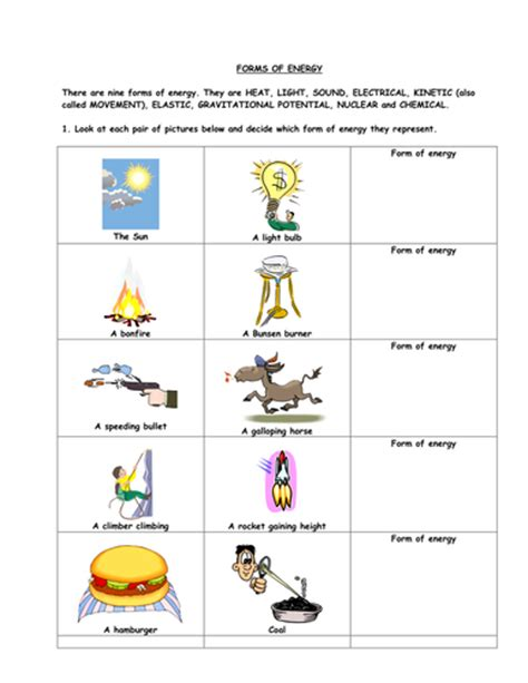 worksheet 4 6 forms of energy answer key forms of energy by gregodowd teaching resources tes