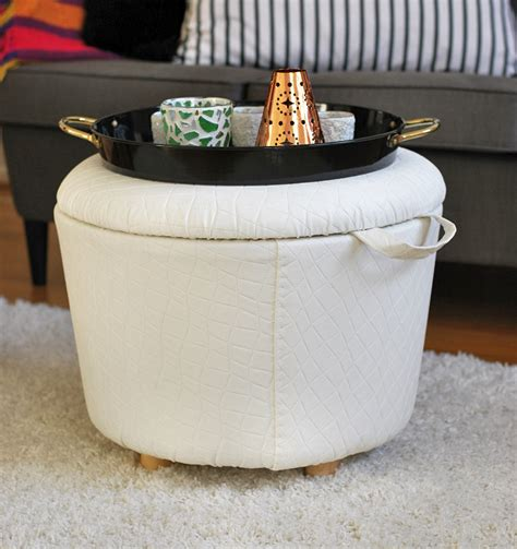 how to make a storage ottoman diy storage ottoman rags to couture
