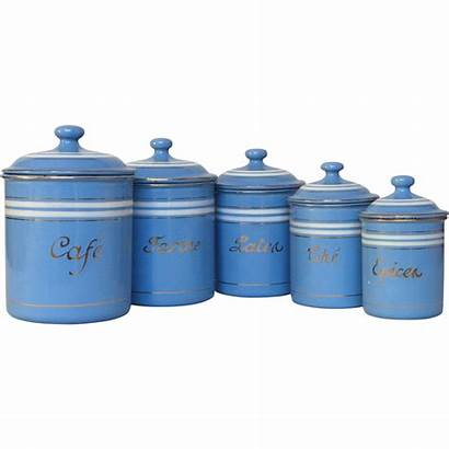 Kitchen Canisters French Enamel Sky Graniteware Canister