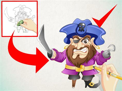 Cartoon : How To Draw A Cartoon Pirate