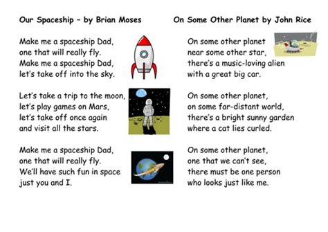 poetry planning based around space and the moon landing
